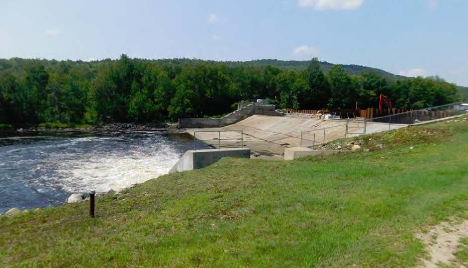 Upper Gorham dam and minimum flow structure