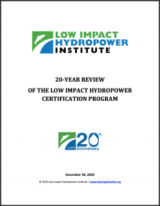 20 Year Report Cover Page
